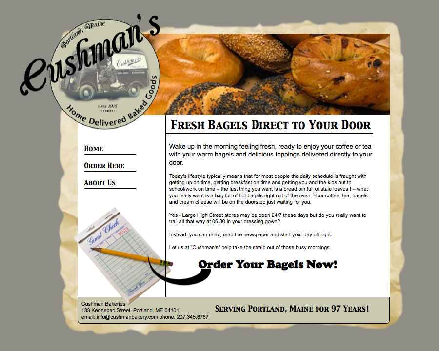 Slide: Cushman Bakeries - Home Page