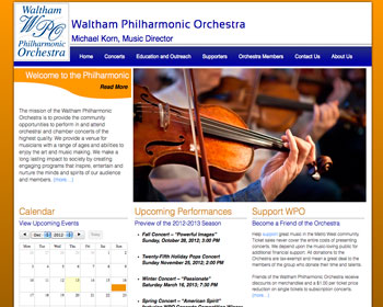 Slide: Waltham Philharmonic Orchestra - Home Page